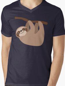Cute Sloth on a Branch Mens V-Neck T-Shirt