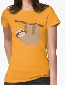 Cute Sloth on a Branch Womens Fitted T-Shirt
