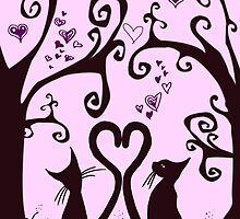 valentine cats by Adam Asar