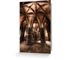 Cloisters || Glasgow Cathedral, Glasgow Greeting Card