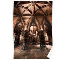 Cloisters || Glasgow Cathedral, Glasgow Poster