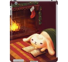 Chubby bunny by the fireplace iPad Case/Skin
