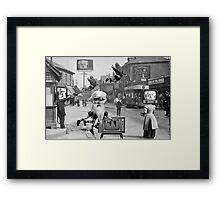 Eadweard Muybridge in Newport. Framed Print