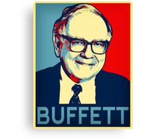 Warren Buffett  Hope Poster Canvas Print