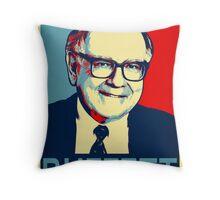 Warren Buffett  Hope Poster Throw Pillow