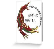 Monster Hunter Agnaktor Greeting Card