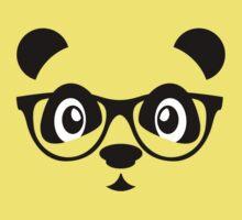 Cute nerd panda Kids Tee