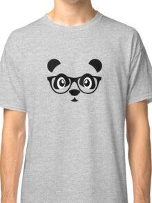 Cute nerd panda Classic T-Shirt