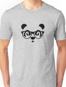 Cute nerd panda Unisex T-Shirt