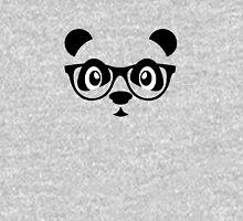 Cute nerd panda Womens Fitted T-Shirt