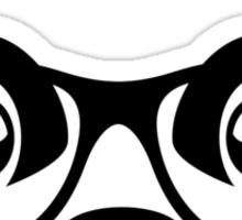 Cute nerd panda Sticker