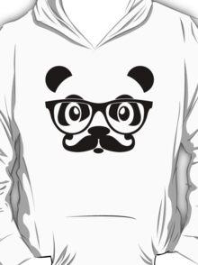 Panda geek with mustache T-Shirt