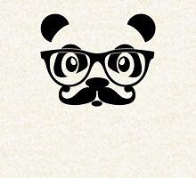 Panda geek with mustache Hoodie
