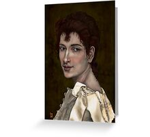 CLASSICAL DIGITAL PORTRAIT OF GABRIELLE COT Greeting Card
