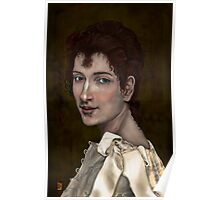 CLASSICAL DIGITAL PORTRAIT OF GABRIELLE COT Poster