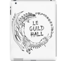 Monster Hunter Le Guild Hall-Silver Rathalos Colored iPad Case/Skin