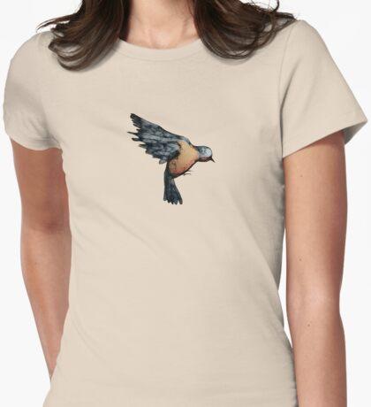Scribbler Bird Womens Fitted T-Shirt