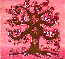 Love Is In The Air  by Lisa Frances Judd~QuirkyHappyArt