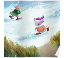 Skating mice Poster