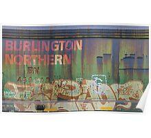 Weathered Burlington Northern. Poster