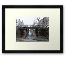 Bridges in Amsterdam Framed Print