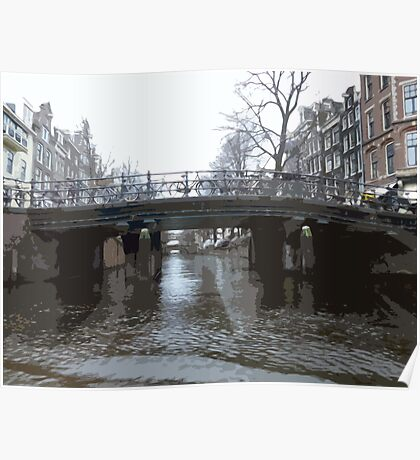 Bridges in Amsterdam Poster