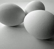 Three white eggs by bubblehex08