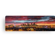 Red Denver Dawn Canvas Print