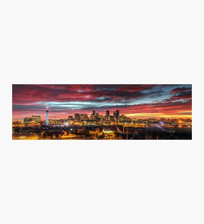 Red Denver Dawn Photographic Print