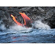 Lava Flow at Kalapana 15 Photographic Print
