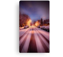 High St. Snow Canvas Print