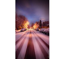 High St. Snow Photographic Print