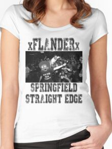 xFLANDERx - Springfield Straight Edge Women's Fitted Scoop T-Shirt