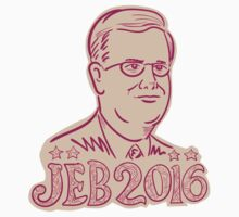 Jeb Bush 2016 President Cartoon by retrovectors