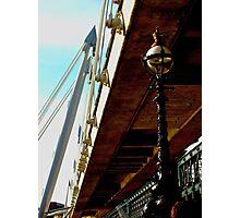 New bridge, old lamppost (London) Photographic Print