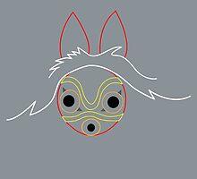 Minimalist Mononoke by Rainey April