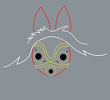 Minimalist Mononoke by Rainey April