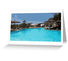 Pool Time in Egypt Greeting Card