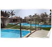 Pool Time in Egypt Poster