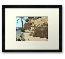 Beach Time in Egypt Framed Print