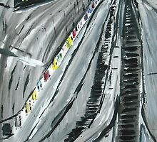 London Underground 'Escalators' - Wall Art by JamesPeart