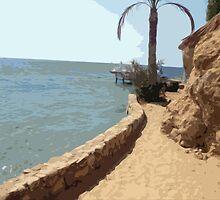 Beach Time in Egypt by Lorren Stewart