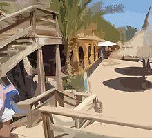 Beach Hut in Egypt by Lorren Stewart