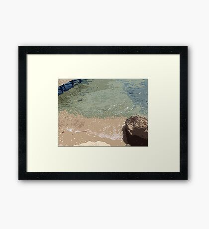 Sea Waves! Framed Print
