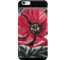 Red and Black Poppy in Bloom iPhone Case/Skin