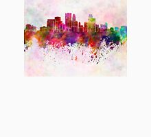 Minneapolis skyline in watercolor background Unisex T-Shirt