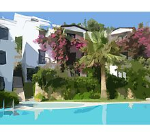 Floral Hotel Landscape in Bodrum! Photographic Print