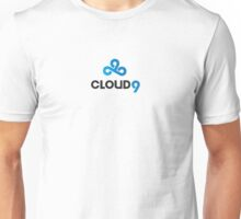 High Res Cloud 9 Logo White Unisex T-Shirt