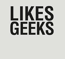 LIKES GEEKS Womens Fitted T-Shirt