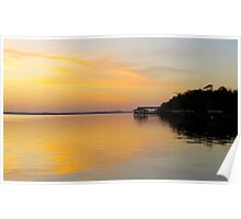 Sunset at Shands Poster